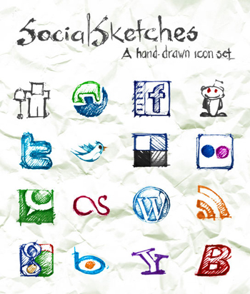 social icons sketches